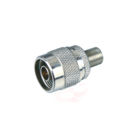 UHF male connector to F connector nickel-plated