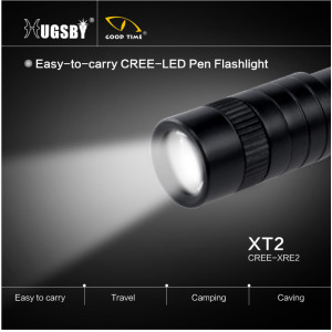 Penlight aluminum LED flashlight XT-2
