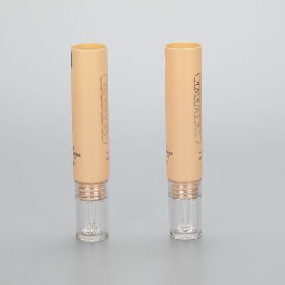 5g plastic skincare essential oil tubes with fancy dropper applicator and luxury acrylic screw cap