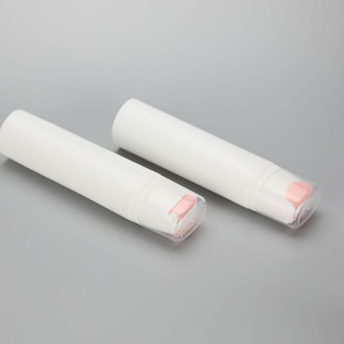 50mm 25g silicone facial cleansing brush cosmetic plastic packaging tube with slant silicone brush