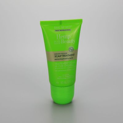 60g green scalp treatment high gloss cosmetic tube with triple massage roll on ball and a screw cap