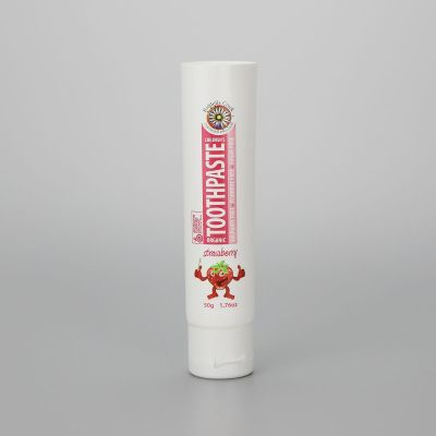 28mm 50g/1.76oz small diameter ABL/PBL plastic empty toothpaste tubes with white flip top cap
