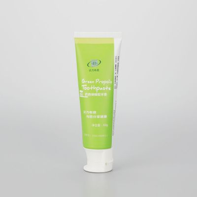 60g toothpaste tube hotel toothpaste tube plastic toothpaste packaging tube with Doctor flip top cap