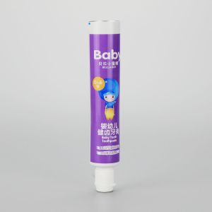50g small diameter ABL baby kids toothpaste empty plastic packaging tube with cute flip top cap