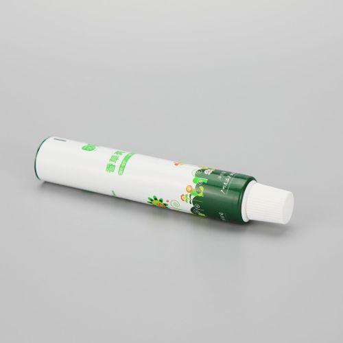 15g skin care vanilla cream ABL aluminum cosmetic plastic packaging tube with small white screw cap