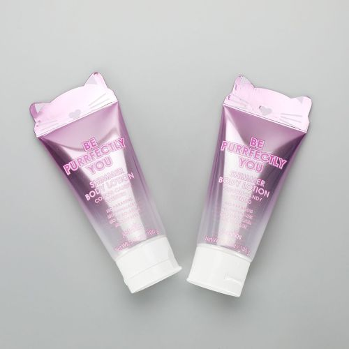 D40mm 3.5oz/100g PBL cute plastic transparent purple hand cream tube with special shape sealing