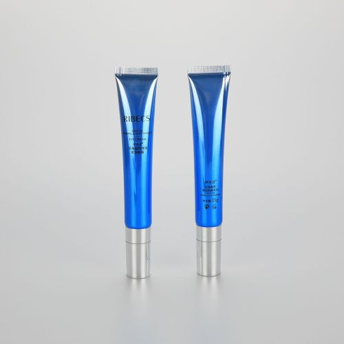 Custom 15g lip gloss container lip balm tube cosmetic laminated tubes with slant lip applicator