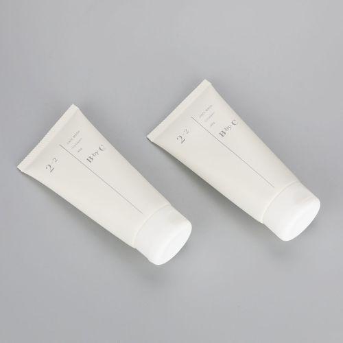 100ml matt white facial cleanser tube cosmetic plastic tubes with flip top cap