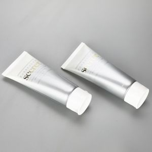 80ml gradient color facial cleanser tube cosmetic plastic glossy tubes with flip top cap