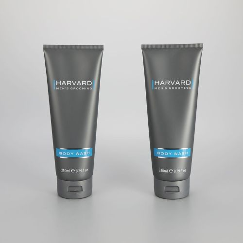 250ml/8.79oz matt gray cosmetic plastic body lotion tube body wash container big tube with flip top cap