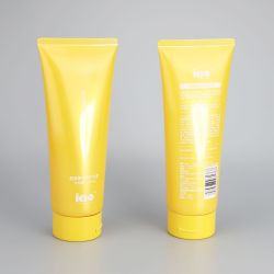 200g glossy hair conditioner empty plastic packaging tube with high quality flip top cap