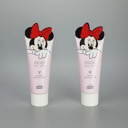 Cute 65g cosmetic aluminum plastic hand cream tube special sealing ABL tube with animal shape tail