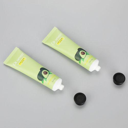 Cute 30g aluminum plastic fruit hand cream tube cosmetic laminated tubes with black flip top cap