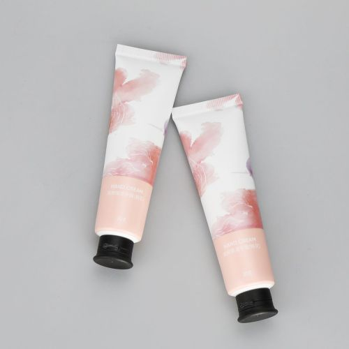 30g aluminum plastic hand cream tube cosmetic ABL flower printing tubes with black flip top cap