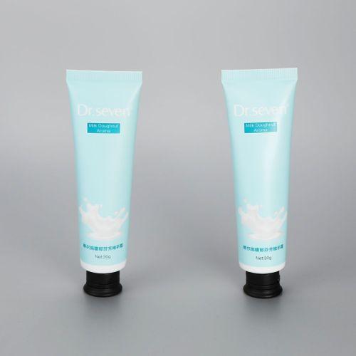 30g aluminum plastic hand cream tube cosmetic plastic tubes with black flip top cap