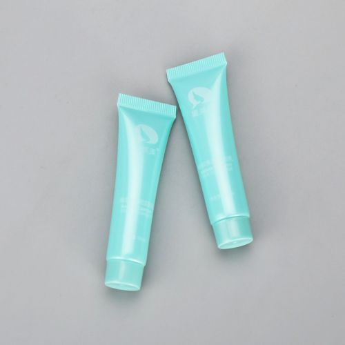 Eco-Friendly 15ml cosmetic plastic facial cleanser tube sample sack packaging with screw cap