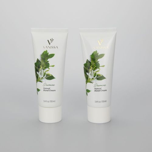 D40mm 3.4oz/100ml collapsible aluminum tube cosmetic hand cream packaging tube with white screw cap