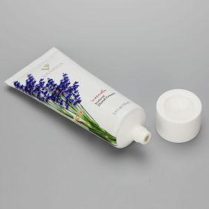D40mm 3.4oz/100ml aluminum plastic tube cosmetic plant printing hand cream tube with white screw cap