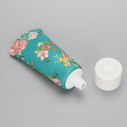 Offset printing 60g/2.12oz cosmetic empty special sealed hand cream tube with white screw cap