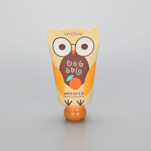 Cute 40g cosmetic plastic hand cream tube special sealed PE tube with animal shape tail