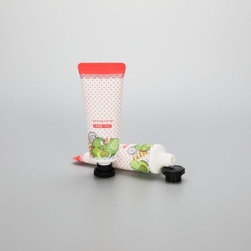 30ml cute cosmetic plastic hand cream tube with octagonal screw cap