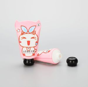 50g cosmetic plastic cute hand cream tube packaging with animal shape tail