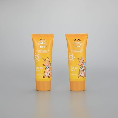D43mm 45g Oval sunscreen BB CC cream lotion cosmetic plastic tube with screw cap
