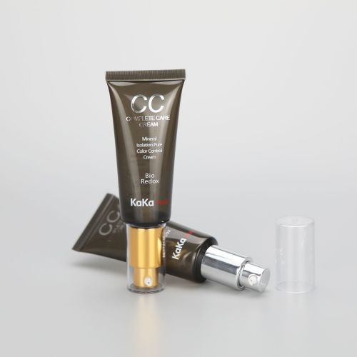 D30mm 35ml/1.1oz BB CC cream plastic cosmetic tube with golden/silver airless cream pump