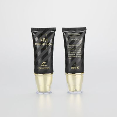 35ml black PBL plastic BB CC cream tubes with golden pumps and clear cover