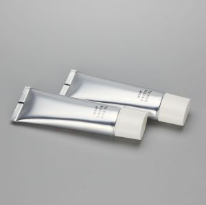 D30mm 35g Oval Shiny Color ABL Aluminum Plastic Cosmetic Tube for BB CC Cream with White Screw Cap