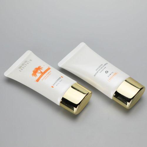 40mm 50g Oval BB CC cream cosmetic plastic tube with golden screw cap