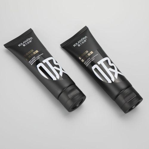 D40mm 120g matt black plastic cosmetic facial cleanser tube blackhead removing mask tube