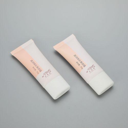 30mm 30g super oval plastic cosmetic BB CC cream tube with screw cap