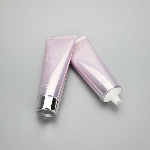 100g aluminum plastic high gloss tube empty facial cleanser hand cream tube