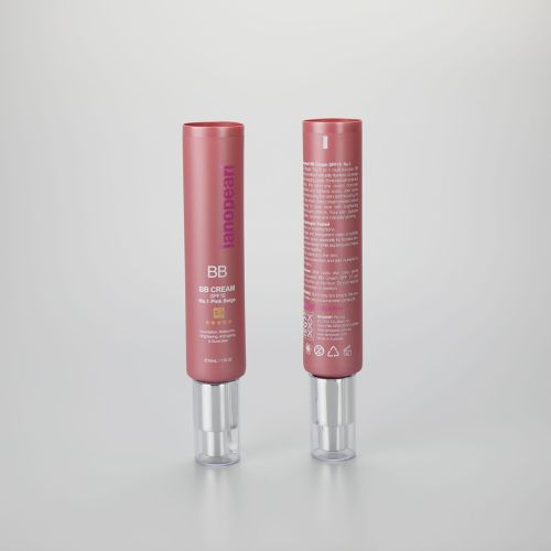 75ml 2.6oz PBL cosmetic plastic hand cream skincare tube  with silver cream pump and cover