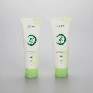 D40mm 100ml cosmetic plastic soft PE tube facial cleanser tube with flip top cap