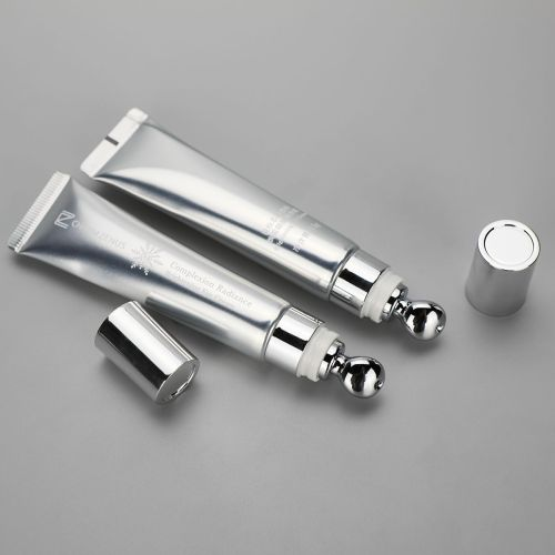 15g new design eye cream massage ball silver aluminum cosmetic tube with special screw cap