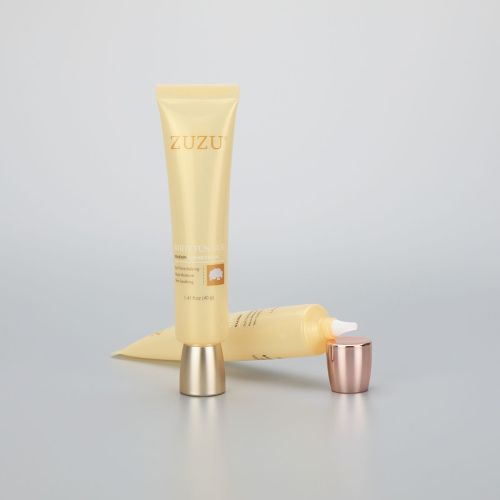 40g long nozzle eye cream cosmetic plastic empty packaging tube with high quality rose gold screw cap