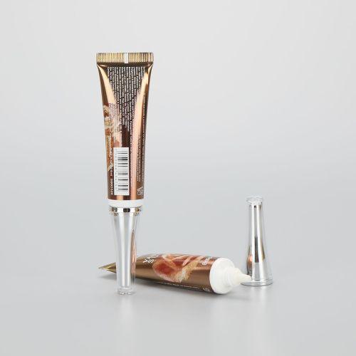 19mm 20g fancy printing long nozzle eye cream plastic cosmetic packaging tube with luxury acrylic screw cap