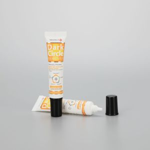 22mm 30g white eye cream long nozzle plastic cosmetic packaging tube with aluminum screw cap