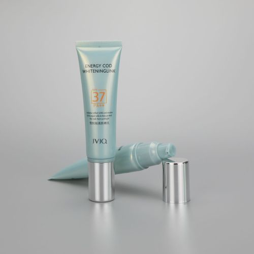30mm 60g isolated sunscreen cream cosmetic plastic tube with airless cream pump and silver cover