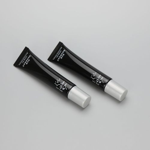 22mm 30g long nozzle enhancing lip serum cosmetic plastic soft squeeze tube with gray screw cap
