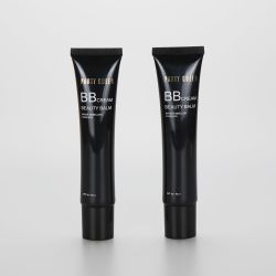 36g/1.3oz black long nozzle BB CC cream eye cream cosmetic plastic empty tube with screw cap