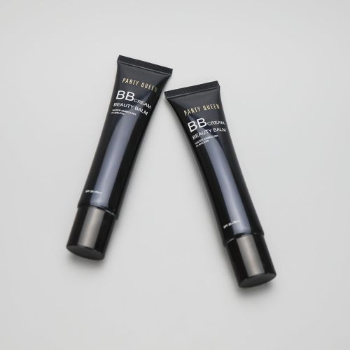 36g/1.3oz black long nozzle BB CC cream eye cream cosmetic plastic empty tube with screw cap