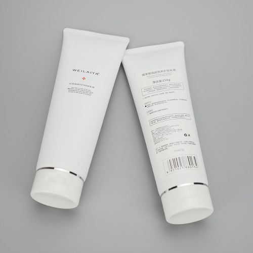 50mm 250g facial cleanser cream  cosmetic plastic squeeze protect hair cream tube with flip top cap