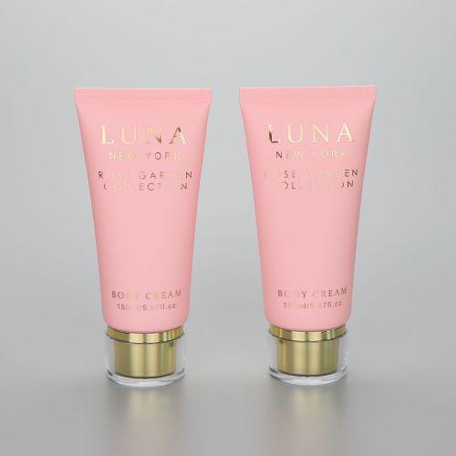 150g/5.07oz Luxury Pink Body Cream PBL Round Cosmetic Tube with Fancy Acrylic Screw Cap