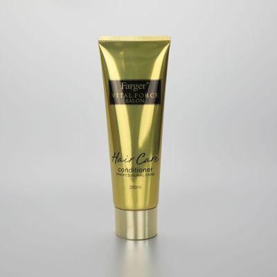280g ABL hair care/ facial cleanser cream aluminium plastic tube with fancy golden disc cap