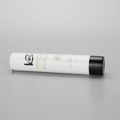35mm Hot sale cosmetic plastic PE tubes Aluminum-plastic Tube for toothpaste with black flip cap