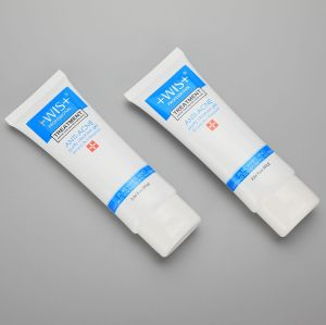 80g/2.86oz oval facial cleanser packaging tube plastic empty cosmetic tube with flip top cap