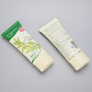 85g oval cosmetic plastic tube packaging for facial cleanser with flip top cap
